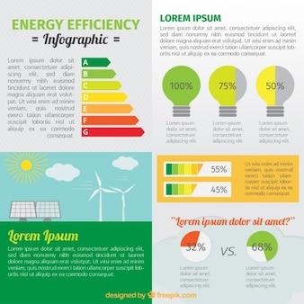 Ahorro de energía con elementos infográficos