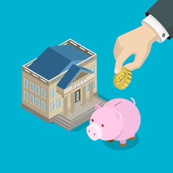Ahorro de inversión de bitcoin plano