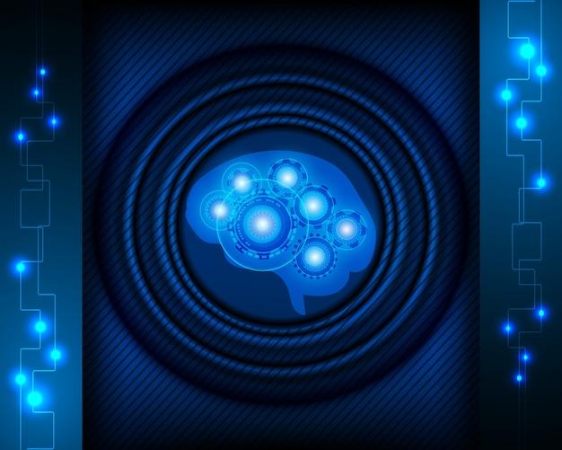 Ai robot cerebro con concepto de red