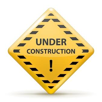 Aislado bajo signo de construcción