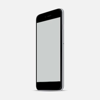 Aislamiento realista del ejemplo del vector del smartphone blanco. teléfono móvil de estilo moderno.