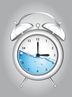 Alarma de reloj con agua