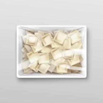 Albóndigas de carne albóndigas pelmeni envases ravioles
