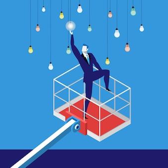 Alcanzar una meta en la ilustración de vector de concepto de negocio