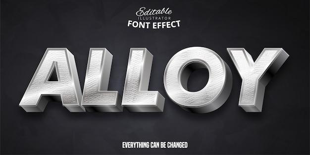 Aleación de texto, efecto de fuente editable