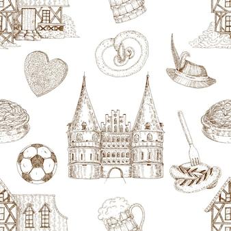 Alemania dibujada de patrones sin fisuras