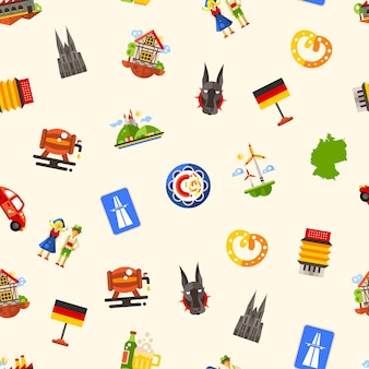 Alemania viaja de patrones sin fisuras con famosos símbolos alemanes