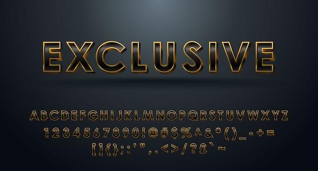 Alfabeto 3d exclusivo completado con números y símbolos