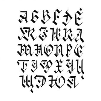 Alfabeto cirílico de caligrafía.