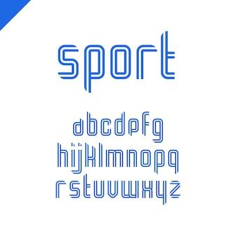Alfabeto deportivo con letras latinas
