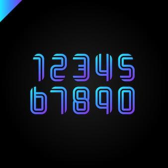 Alfabeto deportivo con números latinos.