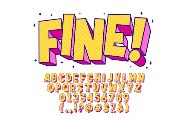 Alfabeto elegante del arte pop