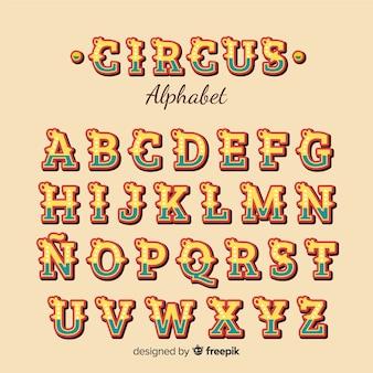 Alfabeto de estilo circense