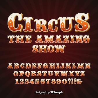 Alfabeto estilo circo