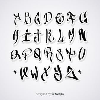 Alfabeto en estilo graffiti