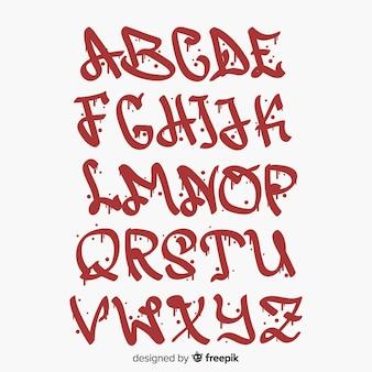 Alfabeto de estilo graffiti