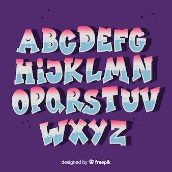Alfabeto de estilo grafiti