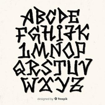 Alfabeto estilo grafiti