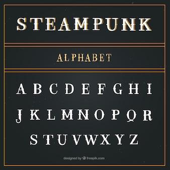 Alfabeto en estilo steampunk