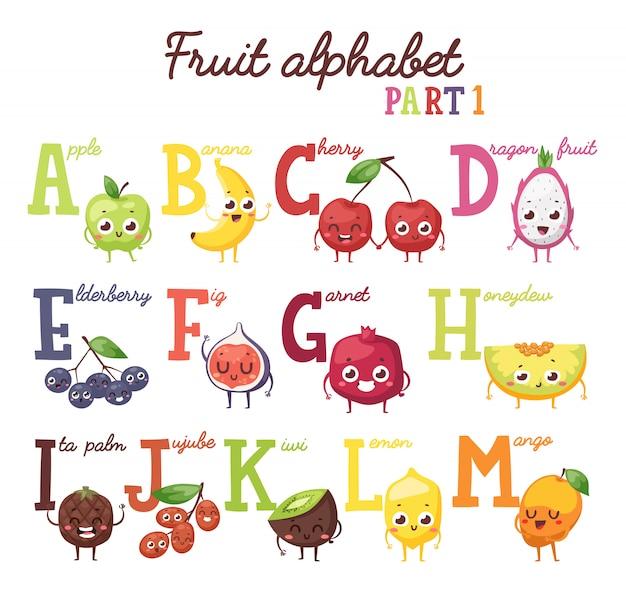 Alfabeto de frutas