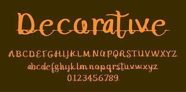 Alfabeto de fuente de pantalla de decoración