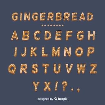Alfabeto de galleta de jengibre