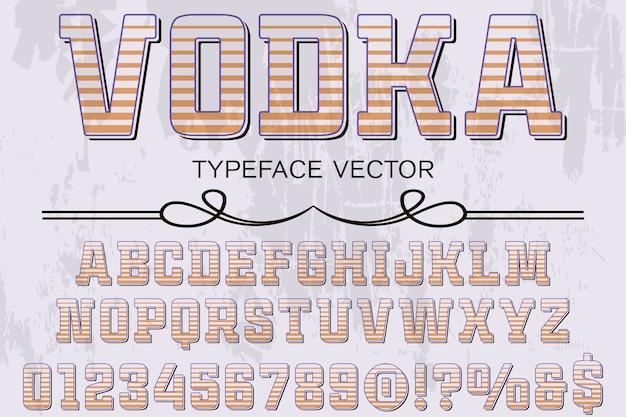 Alfabeto gráfico estilo vodka