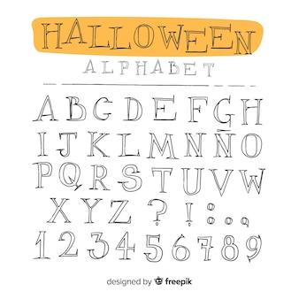 Alfabeto de halloween vintage