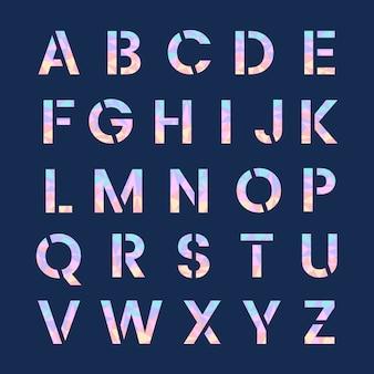 El alfabeto inglés mayúsculas vector