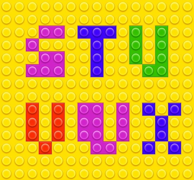 Alfabeto de juguetes de ladrillo para niños