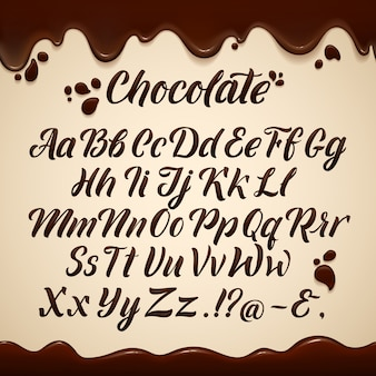 Alfabeto latino en estilo liquido