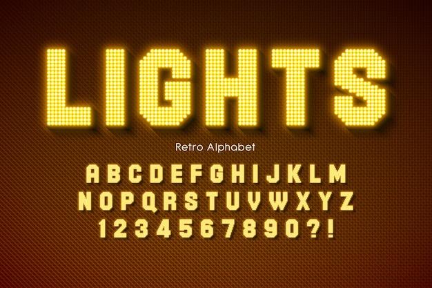 Alfabeto de luz led brillante, fuente extra brillante.