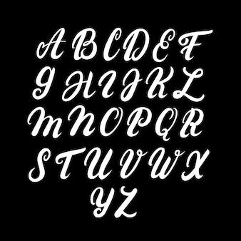 Alfabeto mayúsculo escrito a mano