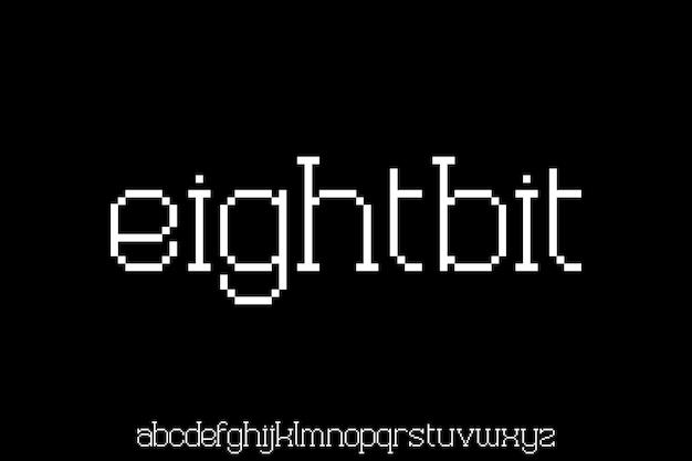 Alfabeto mínimo. tipografía de fuente de pantalla moderna