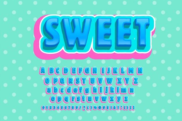 Alfabeto de moda de dulces.
