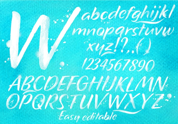Alfabeto moderno azul