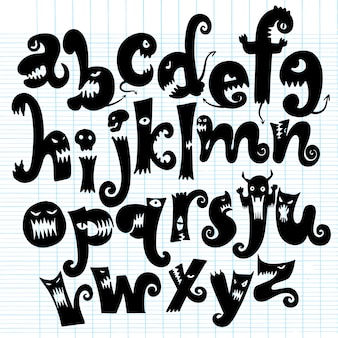 Alfabeto monstruo