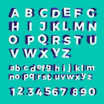 Alfabeto en negrita. ilustrar.