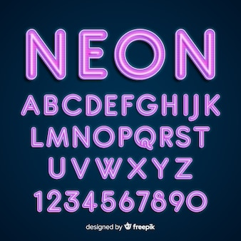 Alfabeto de neó