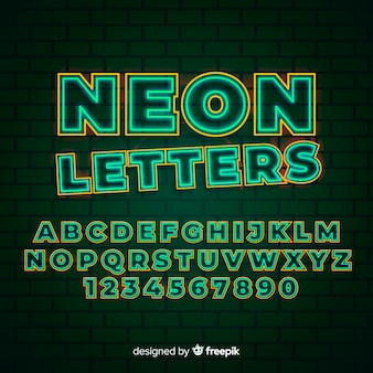 Alfabeto de neón