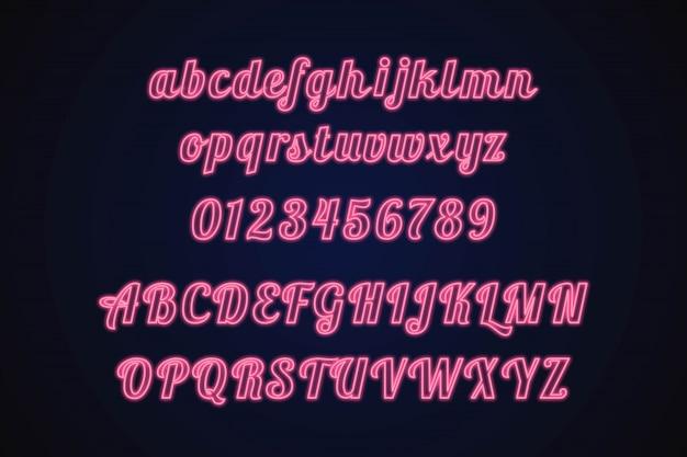 Alfabeto de neon