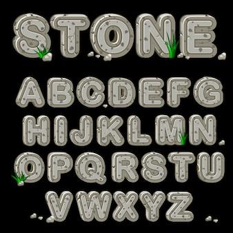 Alfabeto de piedra en vector