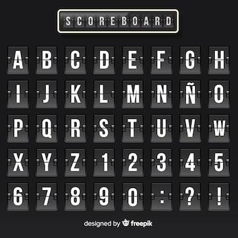 Alfabeto realista de marcardor