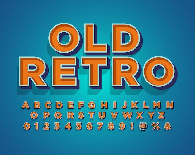 Alfabeto retro antiguo moderno