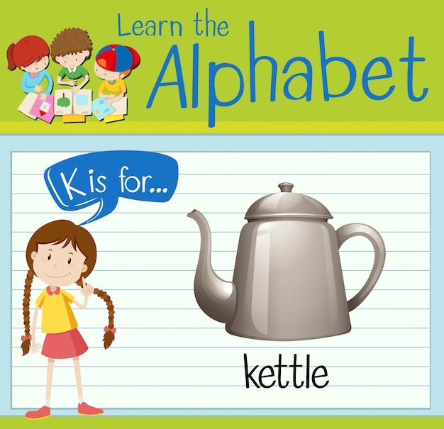 El alfabeto de la tarjeta flash k es para hervidor de agua