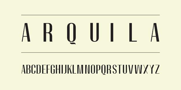 Alfabeto de tipo de letra sans serif para crear elegantes encabezados