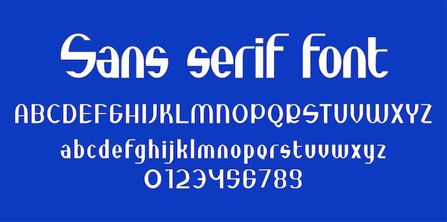 Alfabeto de tipografía sans serif