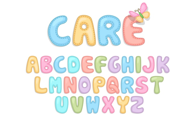 Alfabetos de cuidado del bebé