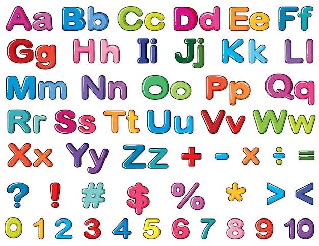 Alfabetos y números