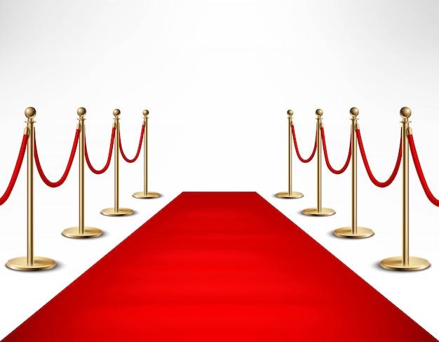 Alfombra roja celebridades evento formal banner